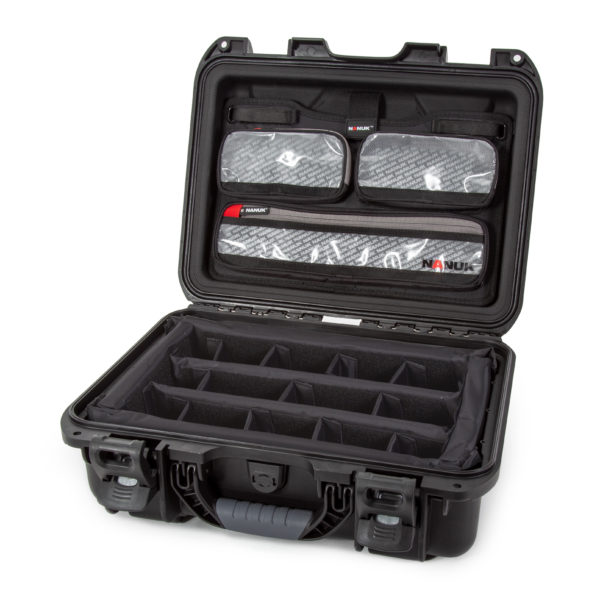 Leafield Cases | Nanuk Cases | 920 black case with lid organisers and divider