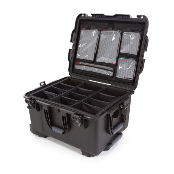 Leafield Cases | Nanuk Cases | 960 black case with lid organisers and padded divider