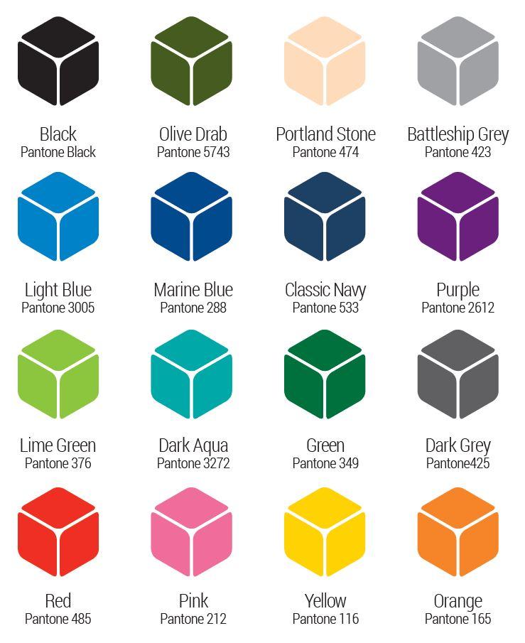 Leafield Cases | Aegis Cases | Aegis Cases Colour Pallet