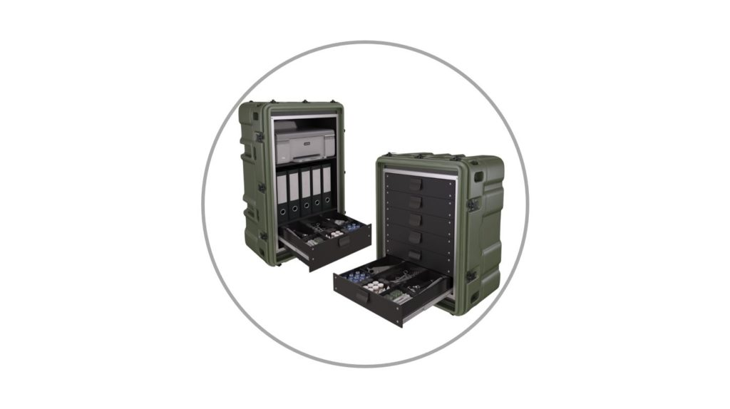 Leafield Cases | Aegis Cases | drawers and storage integrated into case